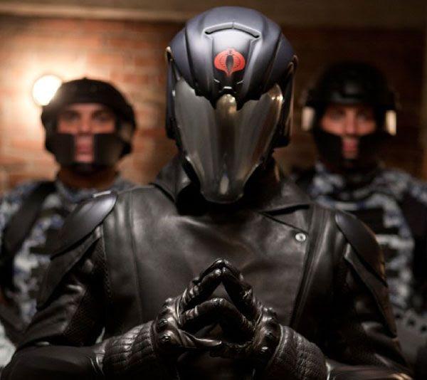 Underneath that visor, Cobra Commander is pondering about world domination in G.I. JOE: RETALIATION.