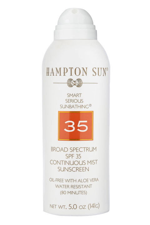 Sun damage isn't fun; spraying with SPF actually kind of is. Stock up before heading into the desert (or wherever your destination may be).Hampton Sun SPFF 35 Continuous Mist Sunscreen, $32; everythingbutwater.com
