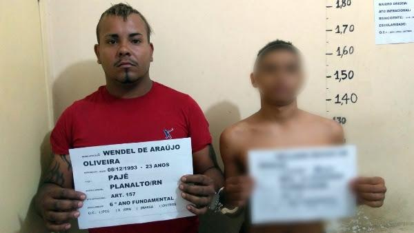 Bandidos presos pela Polícia