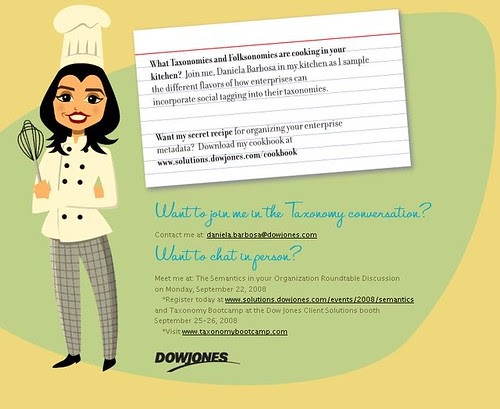 Cooking: Taxonomies folksonomies and metadata