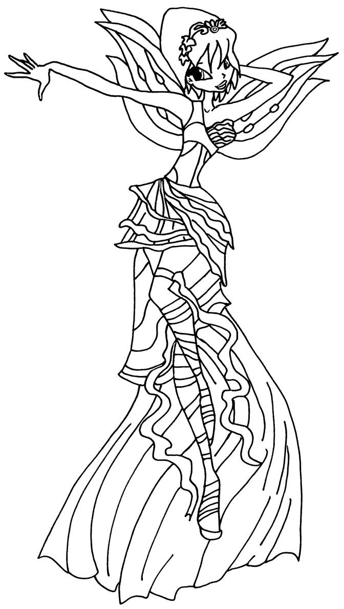 Winx Club Bloom Harmonix Coloring Pages
