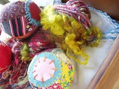 Roly Poly handspun art yarn