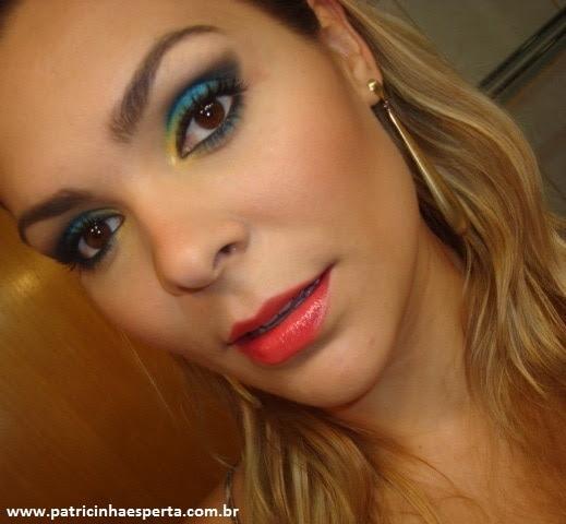 007post Tutorial   Maquiagem Azul e Dourado para Baladas e Festas