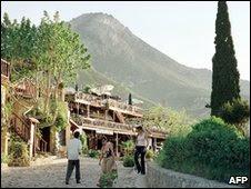 Turkish occupied northern Cypriot village of Bellapais