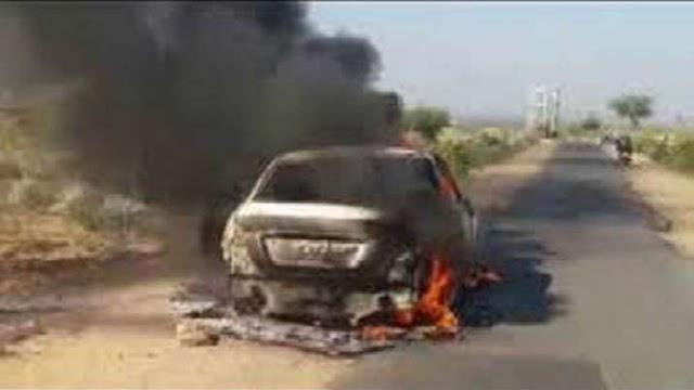 हरियाणा के हिसार में खौफनाक वारदात, 11 लाख रुपये लूटकर व्यापारी को कार में जिंदा जलाया