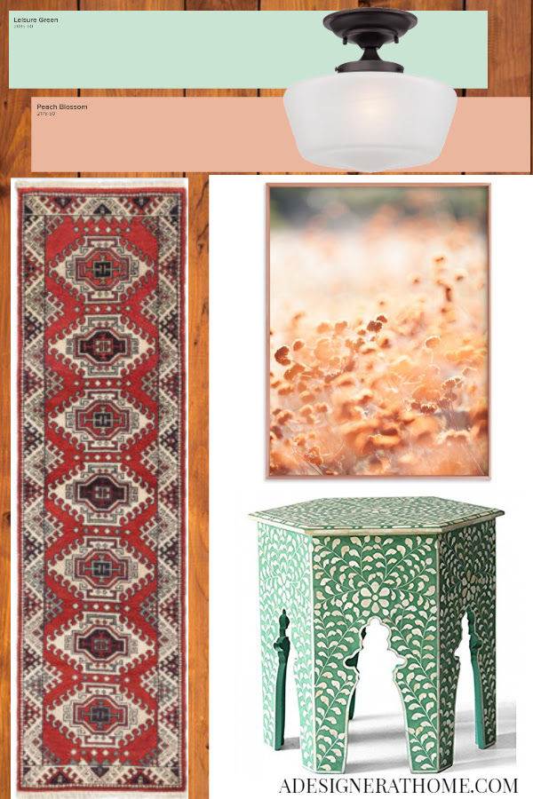 COPPER MINT AND GREEN GLOBAL ETHNIC INSPIRED HALLWAY MAKEOVER