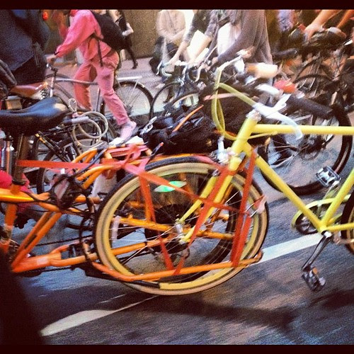 Mundo towing a public bike #sfcm20
