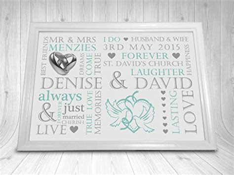 Wedding Print Personalised Word Art Gift Marriage