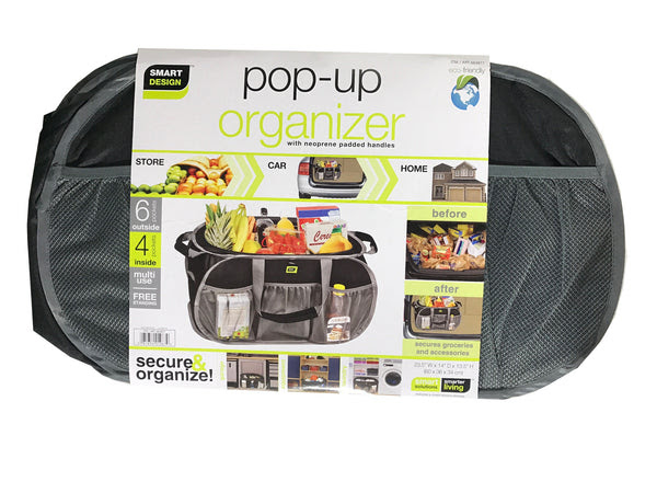 Pop Up Organizer With Neoprene Padded Handles 235x14x135 Grey
