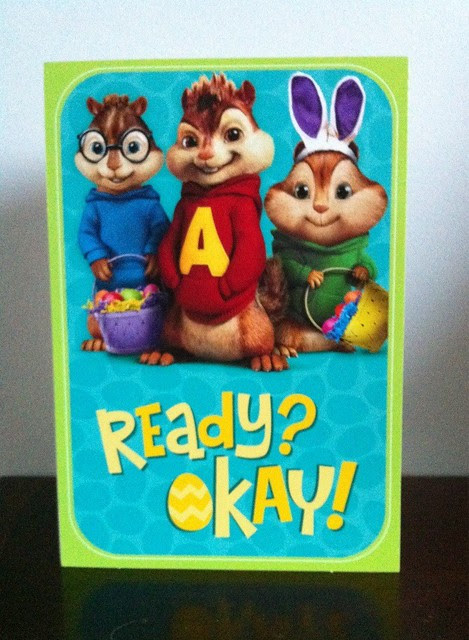 Hallmark Easter Card - The Chipmunks