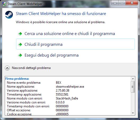 Steam Client WebHelper has stopped working ~ étrangers