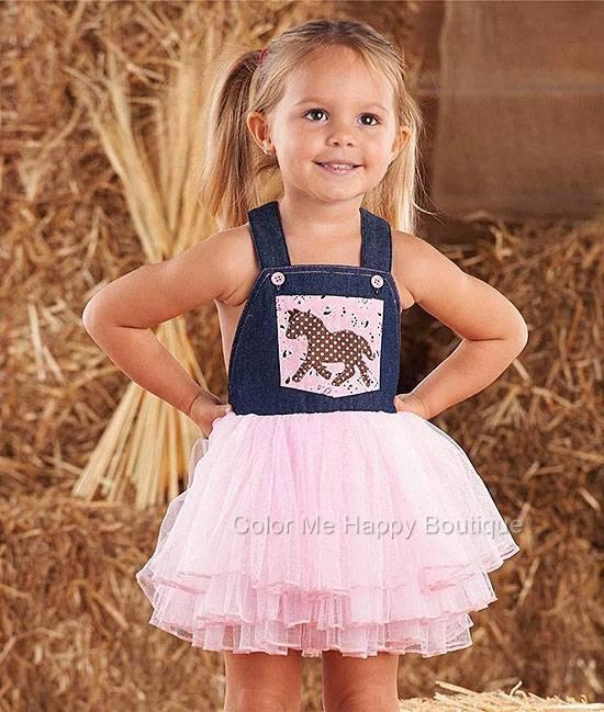 nwt girls boutique mud pie cowgirl tutu overall dress