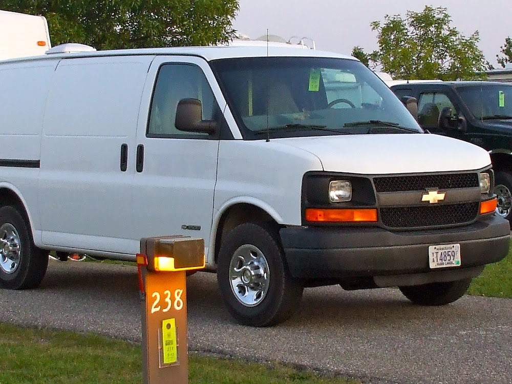 stealth rv van at a campground