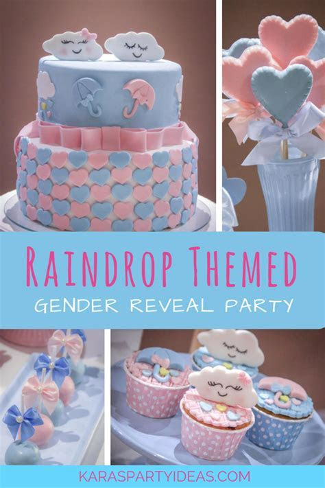 Kara's Party Ideas Raindrop Themed Gender Reveal Party