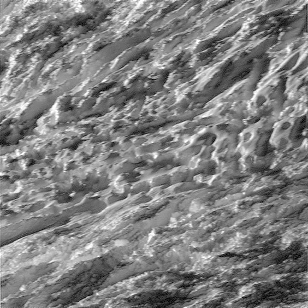 Durante o seu mais próximo que nunca mergulhar passado a região polar sul ativa da lua de Saturno Enceladus, Créditos: / / Instituto de Ciência Espacial da NASA JPL-Caltech