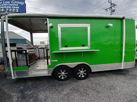 fully loaded green food trailer  sale  lakeland