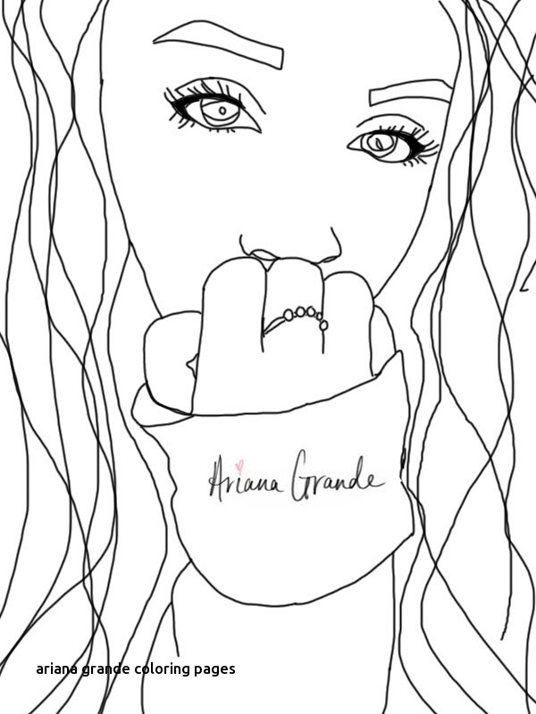 Coloring Pages Of Ariana Grande At Getdrawingscom Free For