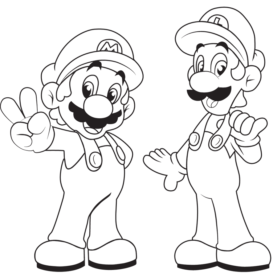 Coloring Pages Mario Kart