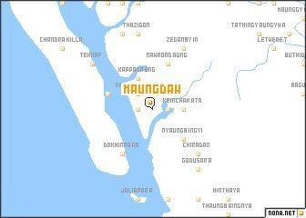 Map of Maungdaww, Burma