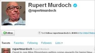 Rupert Murdoch's Twitter account
