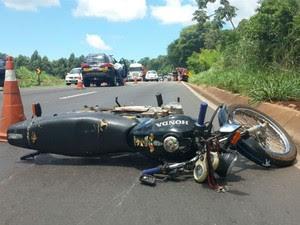 Acidente foi no início da tarde desta quinta-feira (5) (Foto: Polícia Civil/ Divulgação)