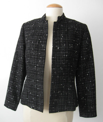 Black white suit jacket