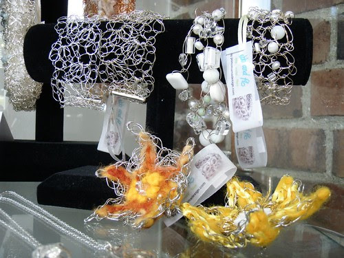 wire and fibre jewelry