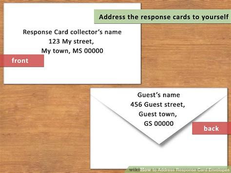 How to Address Response Card Envelopes (with Pictures