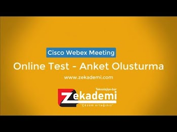 Cisco Webex Meeting Online Test Yapma