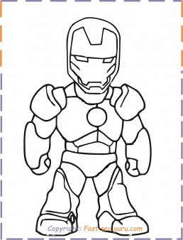 iron man baby coloring pages - Free Printable Coloring ...