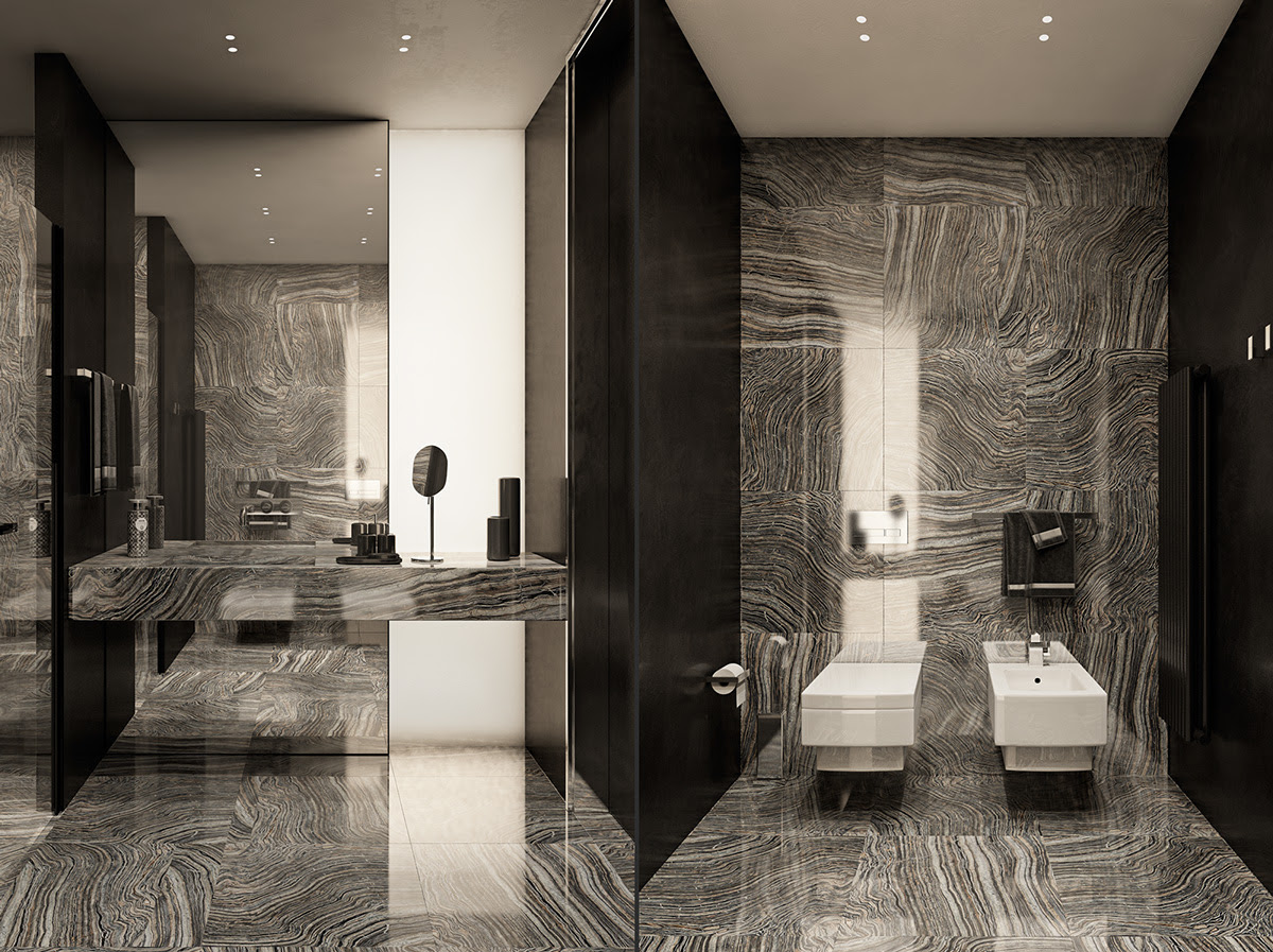 contemporary bathroom designs ideas with a trendy and chic ...
