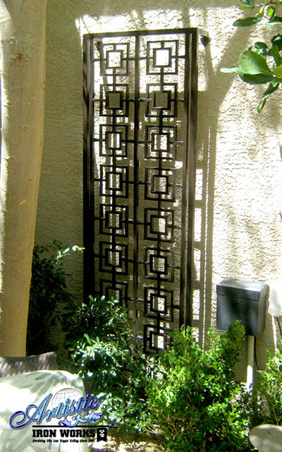 Wrought Iron Trellises - Modern - Outdoor Products - las ...