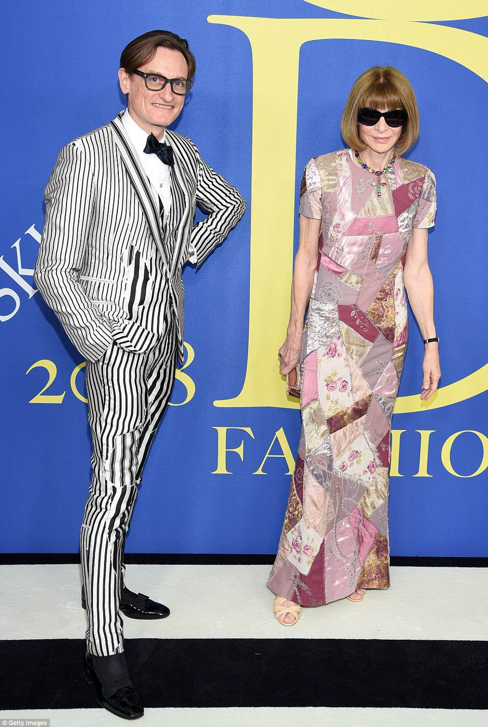 What a duo! Hamish Bowles and Anna Wintour graced the red carpet together