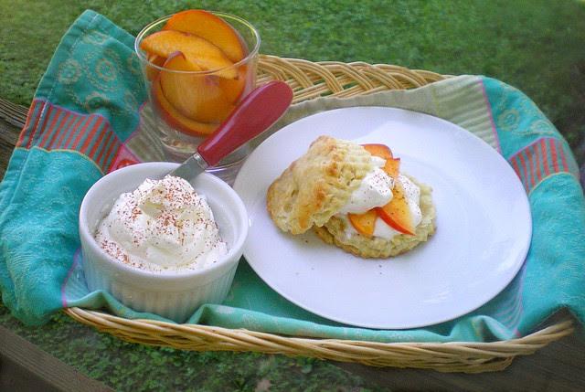 Peach Shortcake Tray