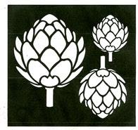 Flower Buds stencil