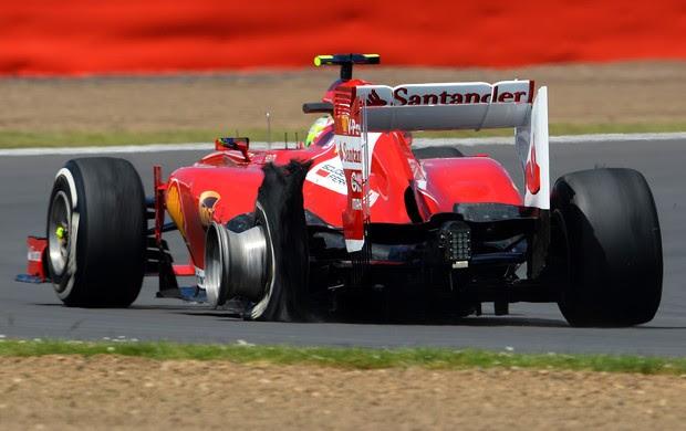felipe massa pneu Silverstone inglaterra formula 1 (Foto: Getty Images)