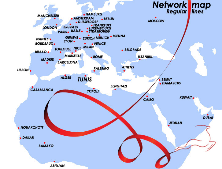 Tunisair's Route Network