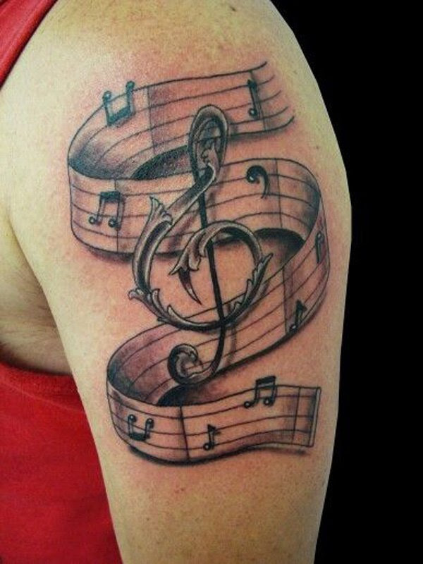 50 Cool Music Tattoo Designs And Ideas The Xerxes
