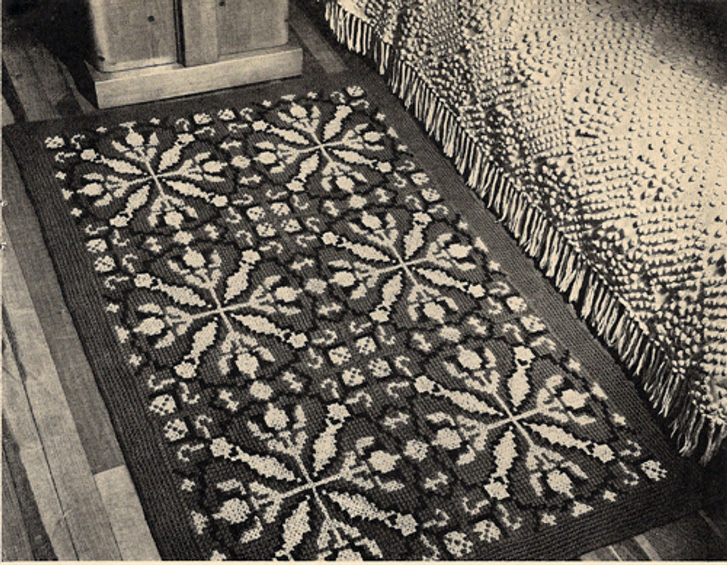 Vintage Tapestry Crocheted Rug Pattern