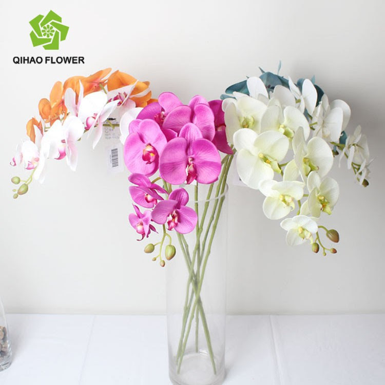 Stocking Decorative Artificial Flowers Silk Orchid Flowers