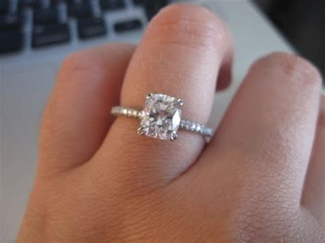 Cushion Cut Engagement Ring   Cushion Cut Engagement Rings