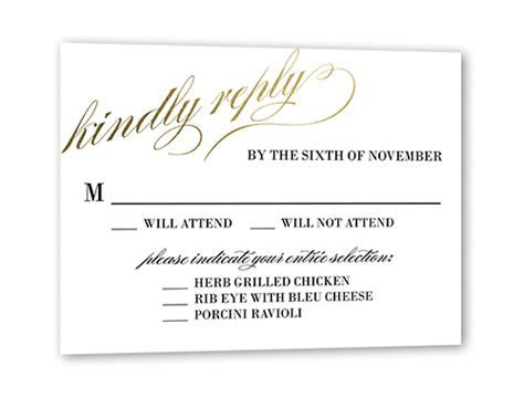 Modish Marriage Wedding Response Card   Shutterfly