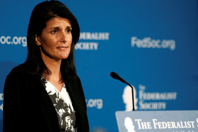 Nikki Haley... (Photo Gary Cameron, archives Reuters)