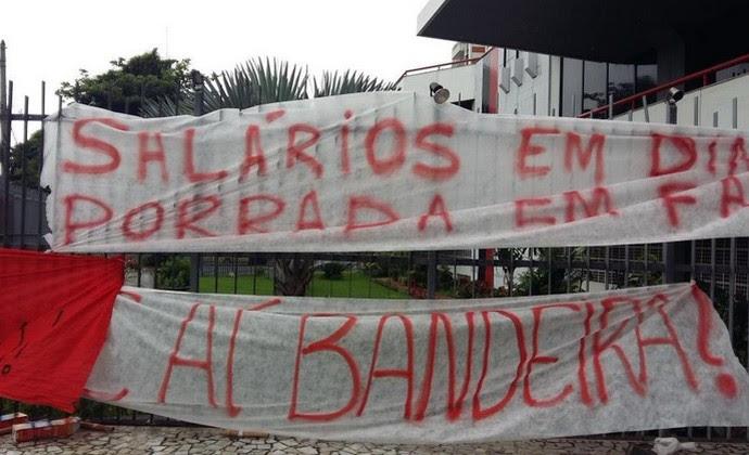 Protesto Gávea Flamengo (Foto: Vivi Mariano)
