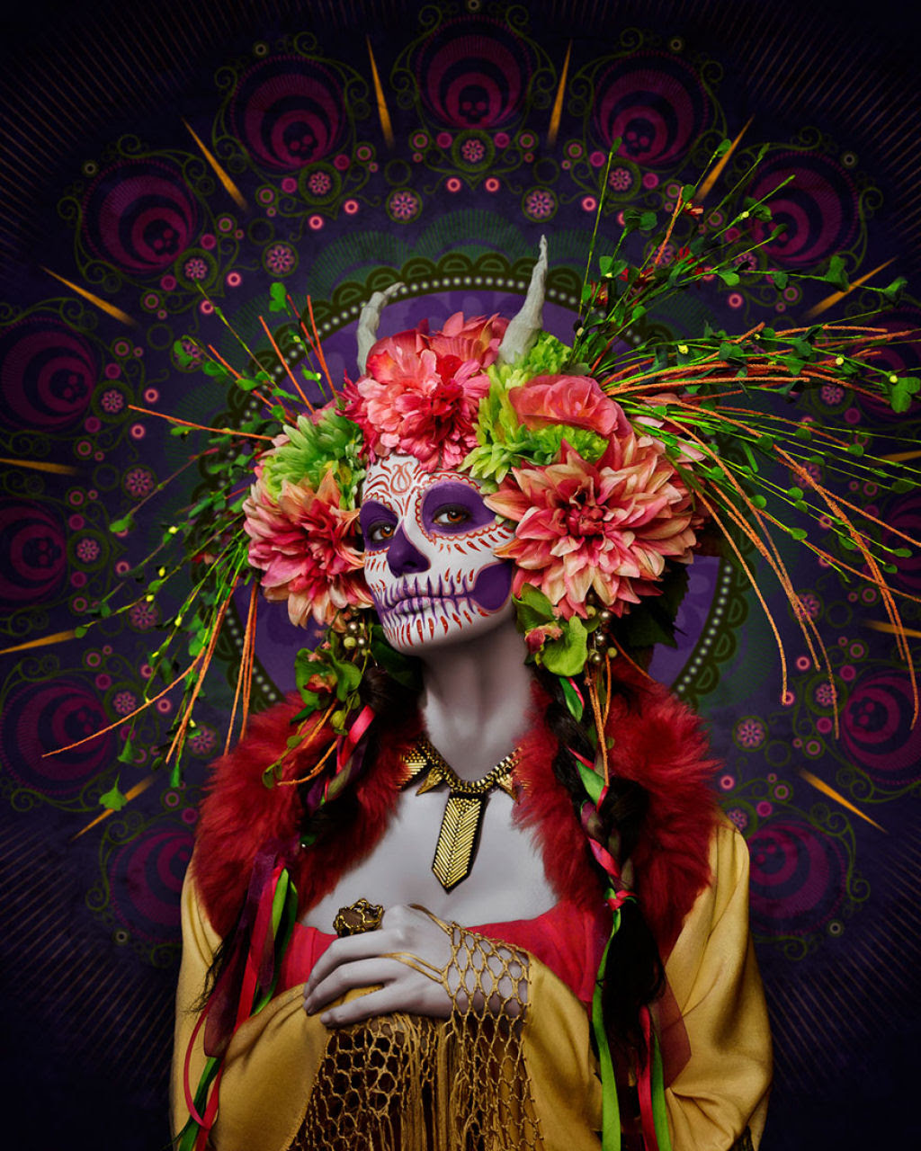 As Mortas: Belezas mortais posam em um colorido tributo ao Dia dos Mortos 01
