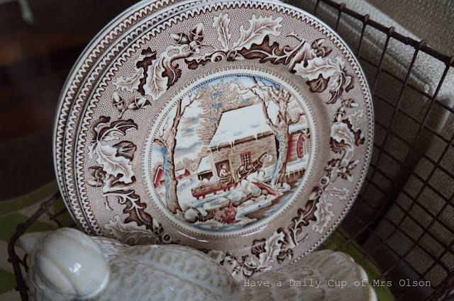 brown transferware by Johnson Brothers