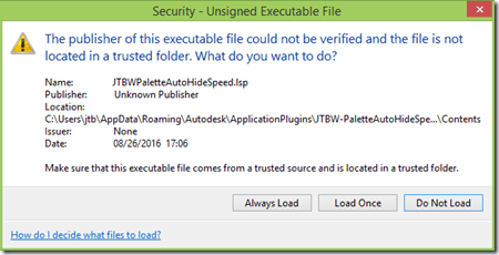Security - Unsigned Executable File