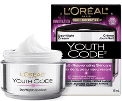youth code Free Loreal Paris Youth Code Day/Night Cream?!