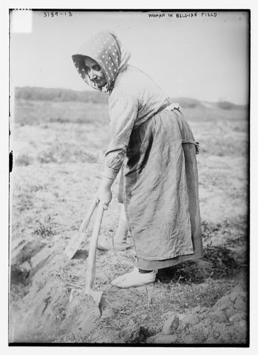 Woman in Belgian Field (LOC)