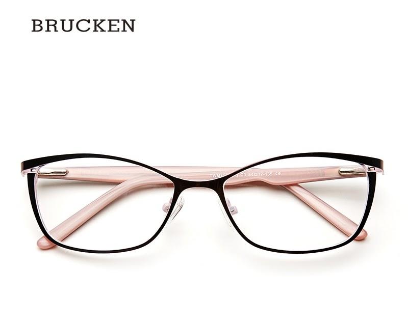 f38c2c81d02ef Comprar Óculos De Armação Metal Mulheres Grife Feminina óculos Sol Do Olho  Gato Vintage Grau Completo Rosa Armações Miopia Baratas Online Preço ...